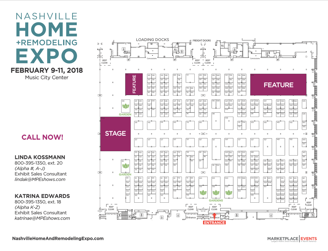 Floor Plan, Exhibitor Rates & Contract for the Nashville Home + ...